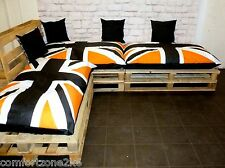 BEANBAG CUSHIONS FOR PALLET GARDEN FURNITURE - UNION JACK + SMILEY BEAN BAGS +