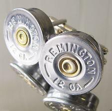 12 GAUGE REMINGTON Bullet Cufflinks Silver Nickel Gold Duck Hunting