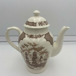 VINTAGE - COFFEE POT - FAIR WINDS CHINA - ALFRED MEAKIN STAFFORDSHIRE, ENGLAND