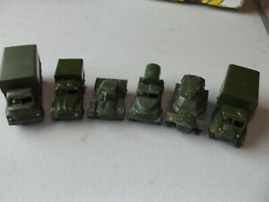 DINKY TOY MILITARY COLLECTION 621 623 641 670 643 676