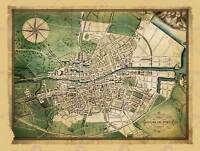 TRAVEL MAPS DUBLIN IRELAND 1780 JOHN JAMESON NEW ART PRINT POSTER PICTURE CC4359