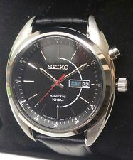 Seiko Men's Kinetic Black Dial Black Strap Watch - SMY119P2. New In Box. 655
