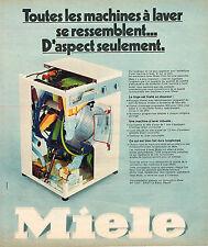 PUBLICITE ADVERTISING 114  1974  MIELE  lave linge machine à laver