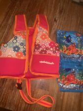 SwimSchool Toddler Girls Lifejacket + SwimWays Dory Arm Floats