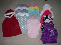 LOT OF 15 MIXED ITEMS GIRLS SIZE 9 MONTHS