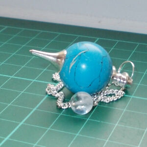 Auction Turquenite Ball Dowsing Pendulum Gemstone Crystal Dowser