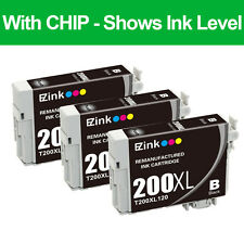 3PKs Remanufactured 200 XL Black Ink Cartridge Replacement For Epson T200XL T200
