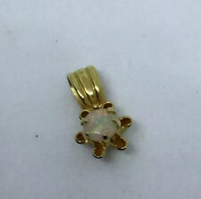 Opal Pendant Necklace Small Vintage Buttercup Mounting 14 Karat Yellow Gold