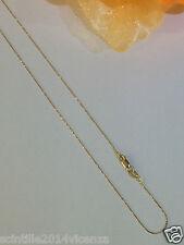 collana collanina donna uomo oro giallo 18 kt 750% misura 45 catena coda di topo