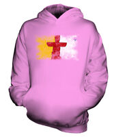NUNAVUT DISTRESSED FLAG KIDS HOODIE TOP GIFT SHIRT CLOTHING JERSEY