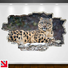 SNOW LEOPARD BIG CAT ANIMAL Wall Sticker Decal Vinyl Art A5