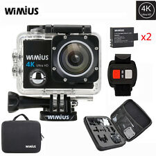 4K Action Sports Camera WiFi 1080P 16MP Waterproof DV Remote Control sj9000 +Bag
