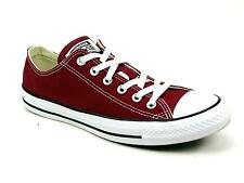 UNISEX CONVERSE ALL STAR LOW MAROON CANVAS CLASSIC LACE UP PUMPS TRAINERS SIZE 8