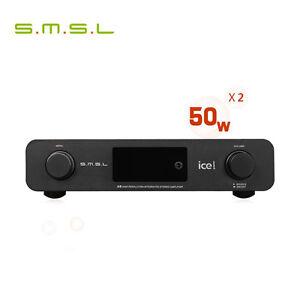 SMSL A6 ICEpower Class-D 50W*2 Digital amplifier XMOS AK4452 DSD512 384KHZ