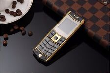 Black Luxury A8 Mobile Phone Dual SIM 1.5 Inch Mini Metal Body Bluetooth Phone