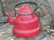 BOUILLOIRE EMAILLEE rouge EMAIL VERITABLE 800°C FONCTIONNELLE NEUVE PROMO!