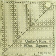 1987 NOS Quilter's Rule Mini Square Betty Gale