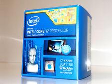 ► INTEL CORE i7 4770K 4x 3.5 -3.9GHz BOXED CPU Quad Core Prozessor Sockel 1150