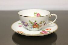 Rosenthal Balmoral Deutsche Flower colourful Teacup+ Lower