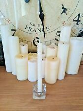 "BEESWAX CANDLES 8"" WHITE. HANDMADE IN THE UK. FREE DELIVERY"