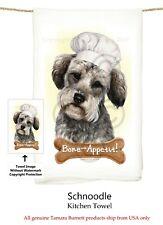 """Schnoodle Dog 29'' x 29"""" Flour Sack Towels, Bone-Appetite !"""