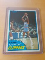 1981/82 Topps #92 West JOE BRYANT San Diego Clippers Basketball Card, Forward.