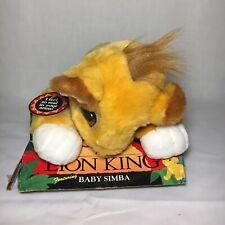 NIP Mattel Lion King Floppy Baby Simba Plush 1993 Vintage Stuffed Animal Toy