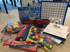 Saxon Math Manipulatives Set S, Clocks, Tanagrams, Scale Counting, Pattern