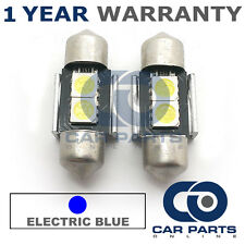 2X BLUE CANBUS NUMBER PLATE INTERIOR 2 SUPER BRIGHT SMD LED BULBS 30MM 06BX2