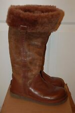 Ugg Austrailia Brown Leather Sheep Skin Boots  Sz 8M