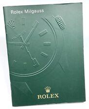 Rolex MILGAUSS LIBRETTO 2011 Istruzioni Manuale 116400 V GV