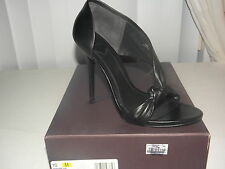 $350 New Brian Atwood Chryssa Size 10 m Black Leather Open Toe Heels Pumps Shoes