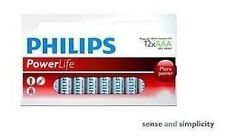 LOT 12 PILES LR06 AAA - PHILIPS - POWERLIFE LONGUE DUREE POUR JOUETS - NEUF