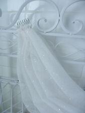 Hens Night Bachelorette Party VEIL White silver glitter dots 40cm length