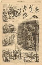 A.B. Frost, Steamship, Cruise, Customs House Men, Vintage 1878 Antique Art Print