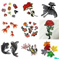 Fish Embroidered Iron On /Sew On Patches Set Badge Bag Fabric Applique_Craft*