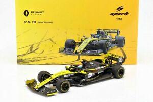1/18 2019 DANIEL RICCIARDO RENAULT RS19 #3 FORMULA1 F1 AUSTRALIA SPARK SPA18S454