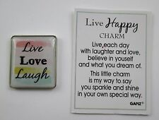 zzg Live Laugh Love Live Happy Pocket Token Charm ganz believe in yourself