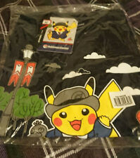 London Pokemon Center Blue Pikachu T-Shirt - Adult Medium Size