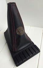 VW Golf MK2 and MK3 Leather Gearstick Gaiter with Laser Etched Wolfsburg Logo