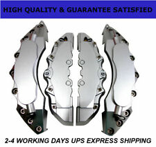 Silver Extra Thick ABS Brake Caliper Covers Car Disc Kit Front Rear 4PCS L+M