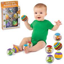 5pc bolas de burbuja rollo Spin Flotante Bebé Niño Actividad Baño Juguete Nuevo en caja divertido