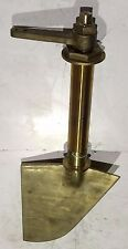 Marine Rudder With Shaft , Bronze , Shaft OD: 79mm. Overall L: 1143mm.