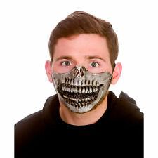 Latex Maske Skelett Halbes Gesicht Halloween Erwachsene Kostüm Kostüm Zubehör