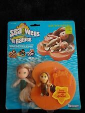RARE!! Vintage Kenner Sea Wees Sunny Mermaid Doll Baby Sail Comb Lilly Pad HTF!!