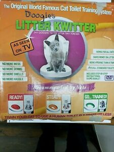 Cat Toilet Training System By Litter Kwitter 3-Step Doogie's Original