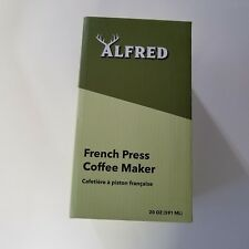 Alfred But First Coffee French Press Stainless Steel Maker Sealed New 20oz
