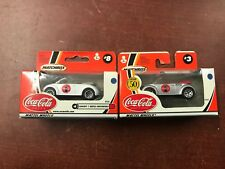 !!!! MATCH BOX COCA COLA  COLLECTION LOT OF 2  VOLKSWAGEN BEETLE CONVERTIBLE !!!