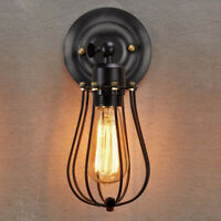 1-2x Retro Vintage Industrial Wall Mounted Light Rustic Sconce Lamps Fixture US