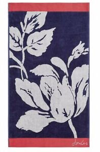 Joules Dawn Shadow Floral Bath Sheet Towel In Comet RRP£36
